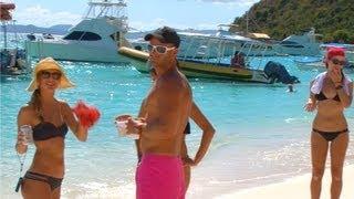 British Virgin Islands - Soggy Dollar Beach Bar, White Bay, Jost Van Dyke, BVI, Caribbean