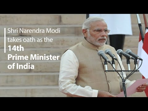 Shri Narendra Damodardas Modi takes oath as the 14th Prime Minister of India   PMO