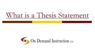 What is a Thesis Statement?  Thesis Statements for Essays