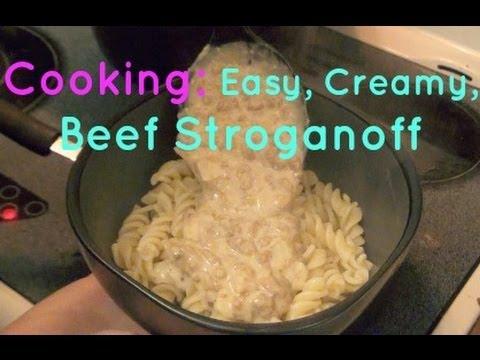 Cooking: Easy Creamy Beef Stroganoff