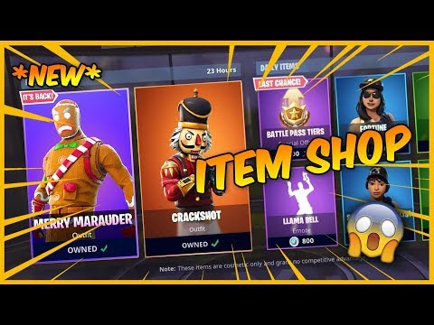 New Fortnite Item Shop Long Shot Insight New Skins Nutcracker