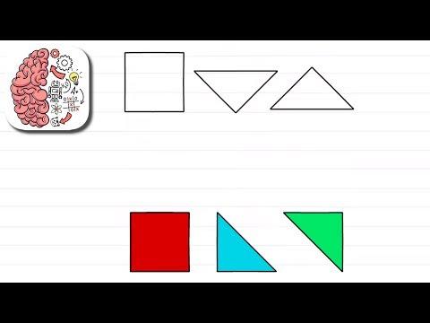 Как пройти Brain Test 112 уровень Подставь цветные фигуры в рамки.
