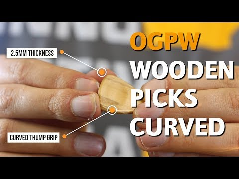 ORTEGA GUITARS | OGPW WOODEN PICKS (CURVED)