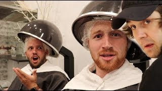 DYING HIS HAIR FOR THE FIRST TIME!! (bad idea)