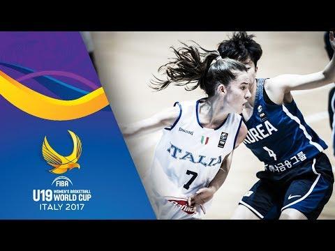 Italy v Korea - Full Game - Classification 9-16 - FIBA U19 Women's Basketball World Cup 2017