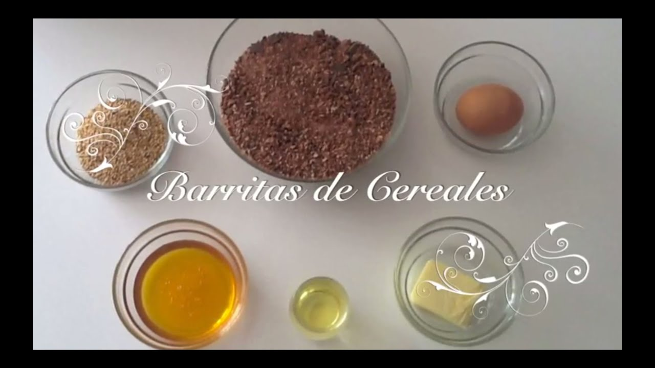 Barritas de Cereales con Chocolate con Thermomix | Como hacer Barritas de Cereales de Chocolate