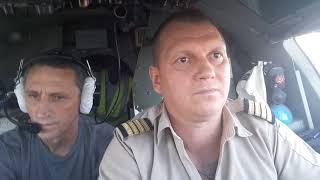 Ну очень спокойный и обычный заход АН-26. Very calm approach and landing AN-26 at Maban.