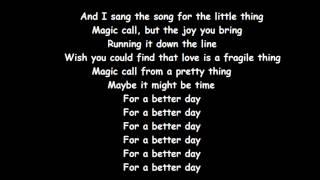 Avicii- For A Better Day (Lyrcis)