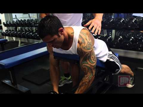 Incline Dumbbell Rear Lateral Raise