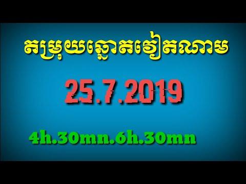 លទ្ធផលឆ្នោតខ្មែរ 13:00 Khmer lottery 22/07/2019