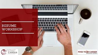Resume Workshop Webinar