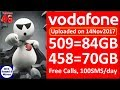 Vodafone New Plan 458 and 509 Details 70GB/84GB Data || DTS ||