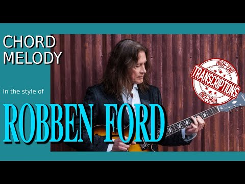 Robben Ford - Chord melody jazz blues lick - Best licks (animated tab - Breakdown)