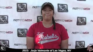 2023 Jorja Valmonte First Base Softball Skills Video - Lil Rebels