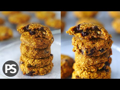4 INGREDIENTES🍪GALLETAS de CALABAZA-CHOCO CHIP  |  (VEG)