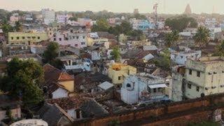 Panoramic view of Thanjavur city