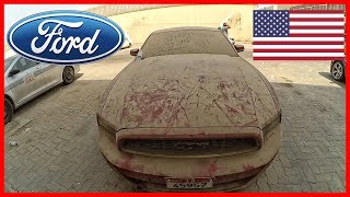 Abandoned cars in Dubai - Ford Mustang. American cars find in United Arab Emirates