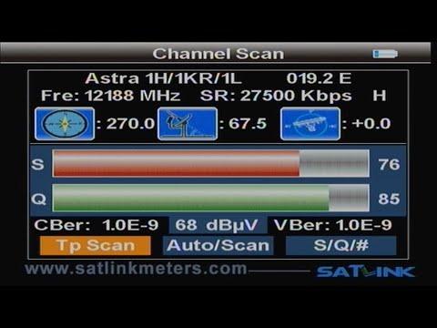 Satllink WS 6939 DVB-S/T Combimessgerät - Satsuche und DVB-S Einstellungen