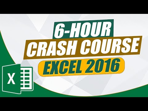 The Ultimate MS Excel Crash Course: 6-Hour Microsoft Excel 2016 ...