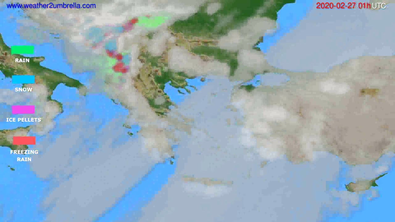 Precipitation forecast Greece // modelrun: 12h UTC 2020-02-25