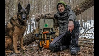 Bushcraft Gear For A Winter Overnight Camp With My Dog