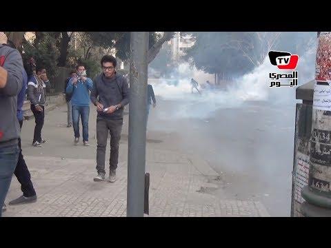 الأمن يطلق قنابل الغاز على مسيرة نقابة الصحفيين في ذكرى ثورة يناير