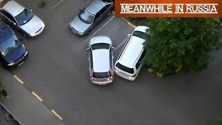Смотреть онлайн Две девушки не могут разъехаться на парковке