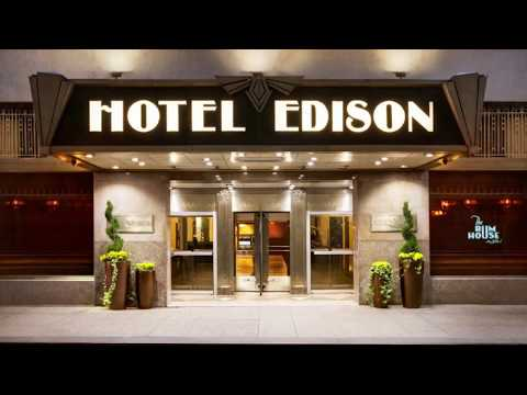 Hotel Edison Room Tour and Hotel Overview – New York City | Attractions