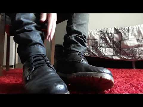 Lick my boots and worship my sweaty feet after work! Male feet footslave boy feet