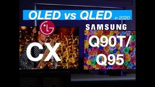 LG CX OLED v Samsung Q90T / Q95T   Two of The Best New TVs in 2020 Side by Side