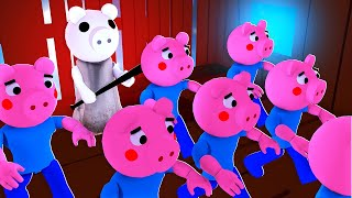 99 GEORGE PIGS VS The DISTORTED MEMORY! (Roblox Piggy)