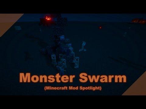 Monster Swarm (Minecraft Mod Spotlight, Works with Mincraft Forge 1.8.9, 1.7.10)