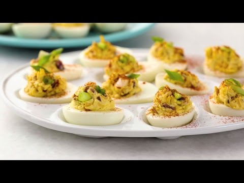 Video Appetizer Recipes - How to Make Fully Loaded Deviled Eggs