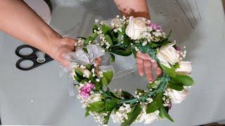 Quick Wedding Flower Crown/halo Tutorial.