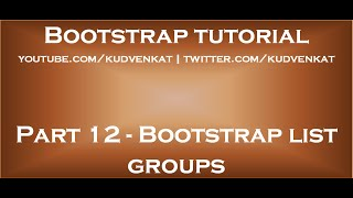Bootstrap list groups