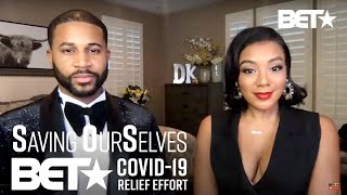 """Devale And Khadeen Ellis Host The """"Saving Our Selves: BET COVID-19 Relief Effort"""" After Show"""