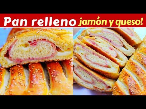 Delicioso!!PAN CASERO relleno de JAMÓN y QUESO/Dulce Hogar Recetas