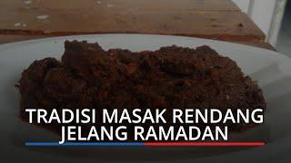 Tradisi Masak Rendang Jelang Ramadan di Padang, Persiapan Sahur hingga Jalin Silaturahmi