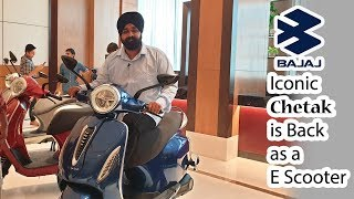 Iconic Bajaj Chetak is Back as an E Scooter