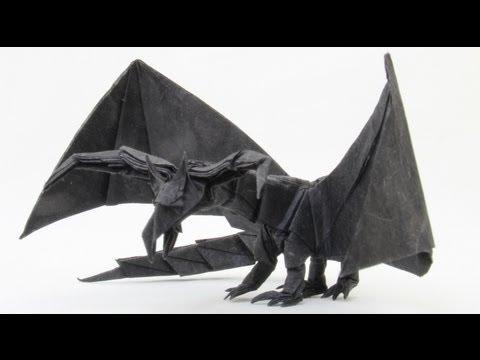 Origami Snake-Dragon (Marc Vigo) (not a tutorial) - YouTube | 360x480
