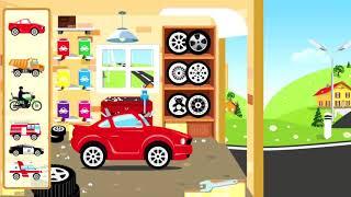 Мультик про машинки , собираем машины в автомастерской.