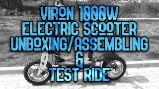 VIRON 1000w Electric Scooter - Unboxing/Assembly & Test Ride #GroupON