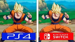 Dragon Ball FighterZ | Switch VS PS4 | Graphics & Framerate Comparison | Comparativa