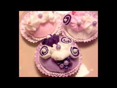 DIY Muffins, Cupcakes aus Stoff, handmade! Shabby-Chic-Deko! Vintage!