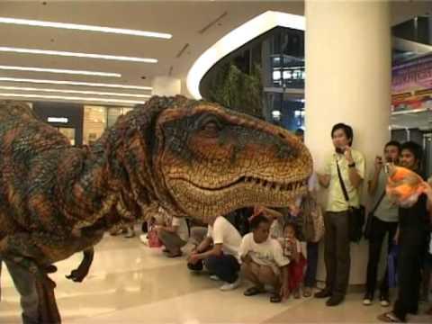 When a Dinosaur Visits the Mall -  Fun!