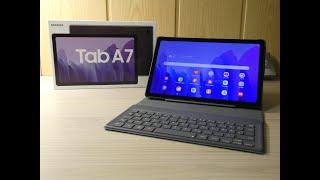 Samsung Tab A7 und Book Cover Keyboard ausgepackt und eingerichtet!