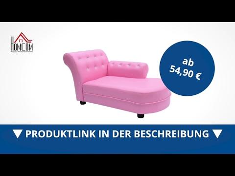 Homcom Kindersofa Kinderzimmer Softsofa Rosa - direkt kaufen!