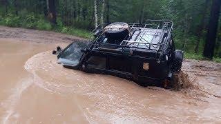 Lexus LX 470, Land Rover Discovery, Jeep Grand Cherokee, Pajero. Танковая дорога. Жесть!