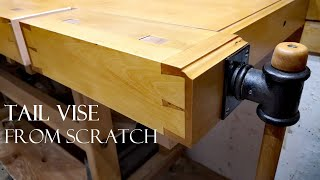 010 Tail vise for my woodworking workbench. TOOLMAKE19