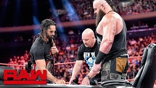 """In order to prevent another interruption, """"Stone Cold"""" Steve Austin moderates the Universal Championship Match contract signing between Seth Rollins and Braun Strowman.  #RAW  GET YOUR 1st MONTH of WWE NETWORK for FREE: http://wwe.yt/wwenetwork --------------------------------------------------------------------- Follow WWE on YouTube for more exciting action! --------------------------------------------------------------------- Subscribe to WWE on YouTube: http://wwe.yt/ Check out WWE.com for news and updates: http://goo.gl/akf0J4 Find the latest Superstar gear at WWEShop: http://shop.wwe.com --------------------------------------------- Check out our other channels! --------------------------------------------- The Bella Twins: https://www.youtube.com/thebellatwins UpUpDownDown: https://www.youtube.com/upupdowndown WWEMusic: https://www.youtube.com/wwemusic Total Divas: https://www.youtube.com/wwetotaldivas ------------------------------------ WWE on Social Media ------------------------------------ Twitter: https://twitter.com/wwe Facebook: https://www.facebook.com/wwe Instagram: https://www.instagram.com/wwe/ Reddit: https://www.reddit.com/user/RealWWE Giphy: https://giphy.com/wwe"""